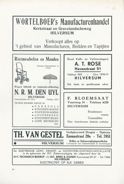 1933-1935 Gedenkboek RKZ1 advertentie