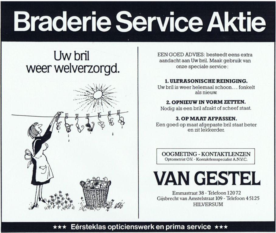 1983 Adv. Braderie Service Aktie