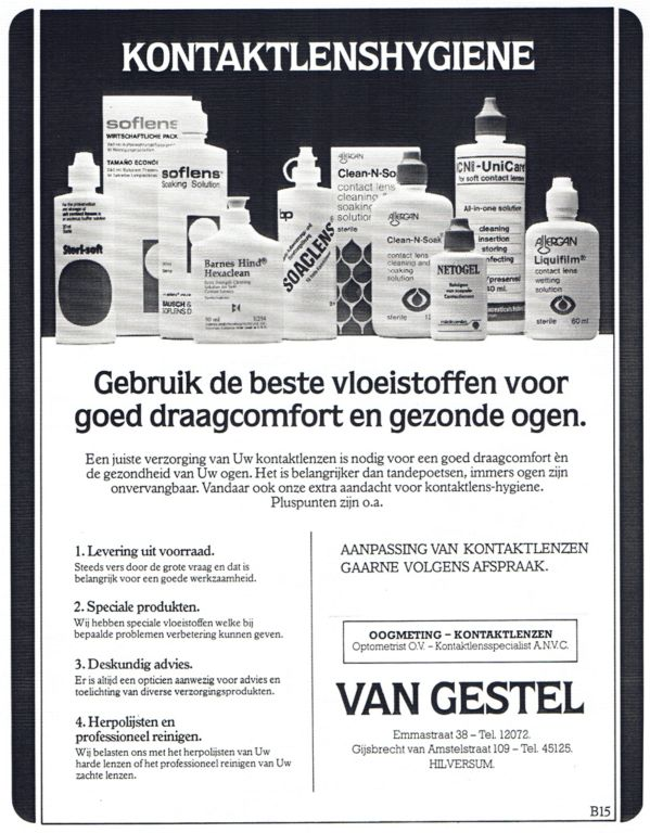 1983 Adv. Contatctlenzen