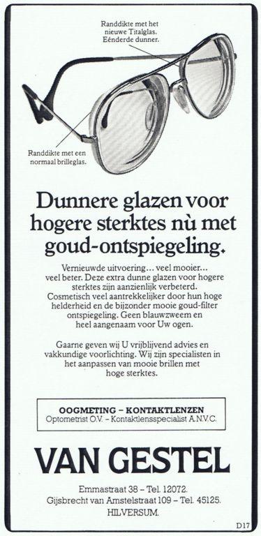 1983 Adv. Dunnere glazen in hogere sterktes