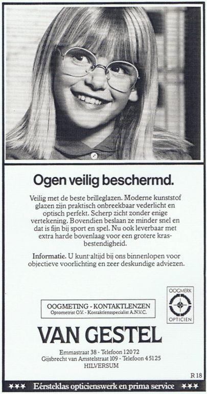 1985 Adv. Kind Ogen veilig beschermd