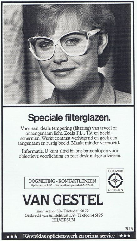1985 Adv. Speciale Filterglazen