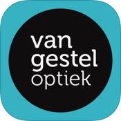 Logo Lensreminder app van gestel optiek